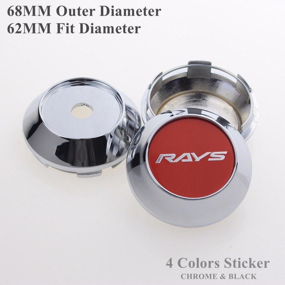 Auto Styling 4PCS/LOT 68MM Wheels Center Caps For RAYS Rims Car-Covers Cap Fit 62MM Inner Rim Hole Centro De Las Tapas Llantas