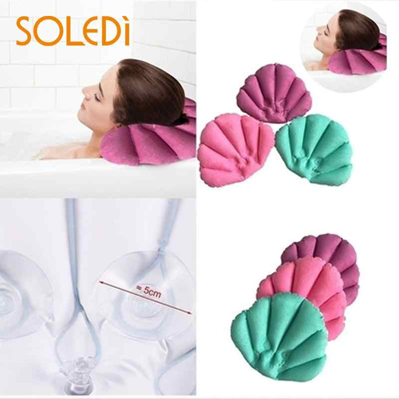 LUOEM подушка для ванной надувная ванная Подушка Мягкая задняя шеи с присосками