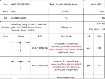 T разъемы для DMX512 светодиодный лампы