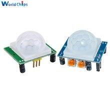 1 шт. HC-SR501 Отрегулируйте пироэлектрический инфракрасный PIR датчик движения модуль детектора для Arduino для raspberry pi комплекты синий/зеленый