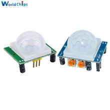 1pcs HC-SR501 Adjust IR Pyroelectric Infrared PIR Motion Sensor Detector Module for Arduino for raspberry pi kits Blue/Green(China)