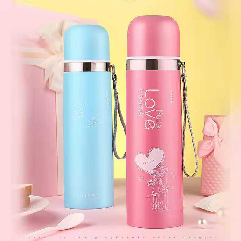 500ml School thermos bottle 304 Strainless Steel Portable Bullet cup thermo mug for women student termo termos thermocup taza de m&m