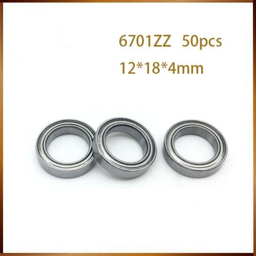 6701-2Z 50pcs 6701 6701ZZ 61701 chrome steel bearing GCR15 deep groove ball bearing 12x18x4mm цена