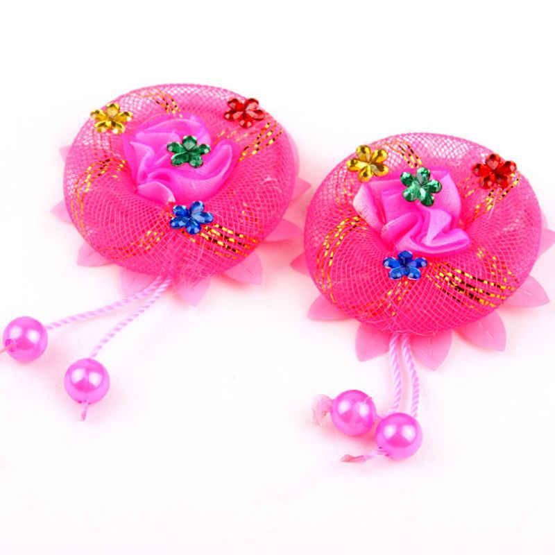 ขายร้อน1ชิ้นดอกไม้สาวเชือกเหงือกผู้ถือผมเด็กน่ารักผมผูกอุปกรณ์เสริมยางยืดS Crunchieจัดแต่งทรงผมหัวสวมใส่