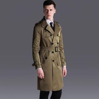2020 new designer mens double breasted trench coats man long coat men clothes slim fit overcoat long sleeve spring autumn loose
