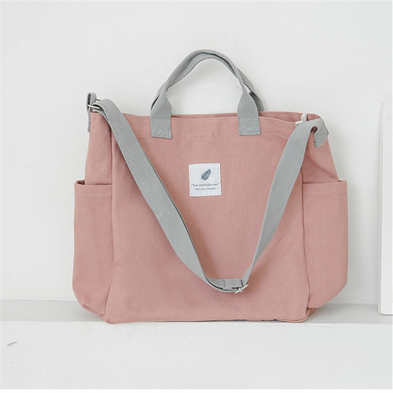New Design Women Shopping Bag Tote Girl Canvas Travel Shoulder Bag Ladies School Books Handbag Portable Shopping Bag BB413