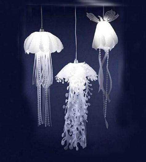 Image 2 - Modern pvc Jellyfish Pendant Light for living room Restaurant bedroom bar hanging lighting-in Pendant Lights from Lights & Lighting