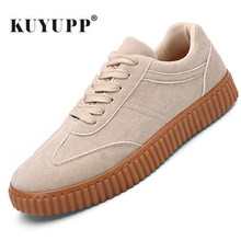 KUYUPP Men Casual Shoes quality creepers suede shoes size 39-44 luxury men shoes flats chaussure femme 2017 spring autumn Y171