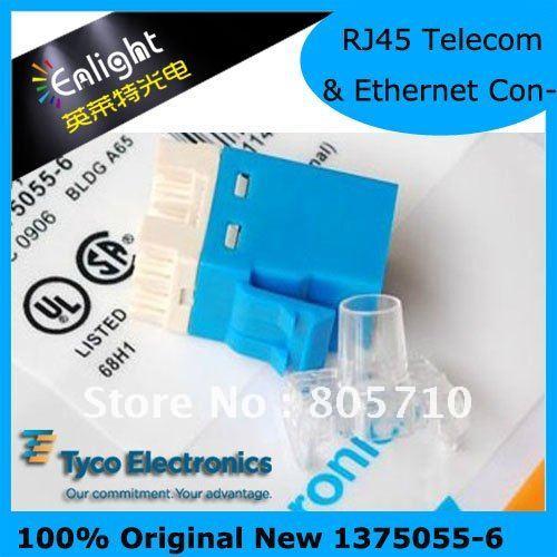 Original 1933748-6/1375055-6 Ethernet & Telecom Connectors ASSY SL110 C6 BLUE 76046 5003 i o connectors stacked sfp 2x4 con nn assy w ti mr li