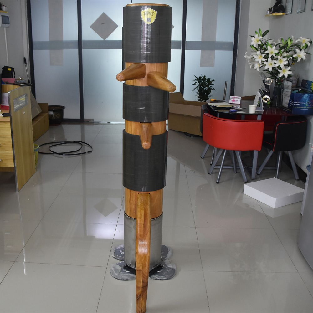 MXDICC Traditional Kung Fu Wing Chun Wooden Dummy with Protective Pads,  Wing Chun Wooden Dummy Mook Yan Jong Ip Man Wooden Dummy