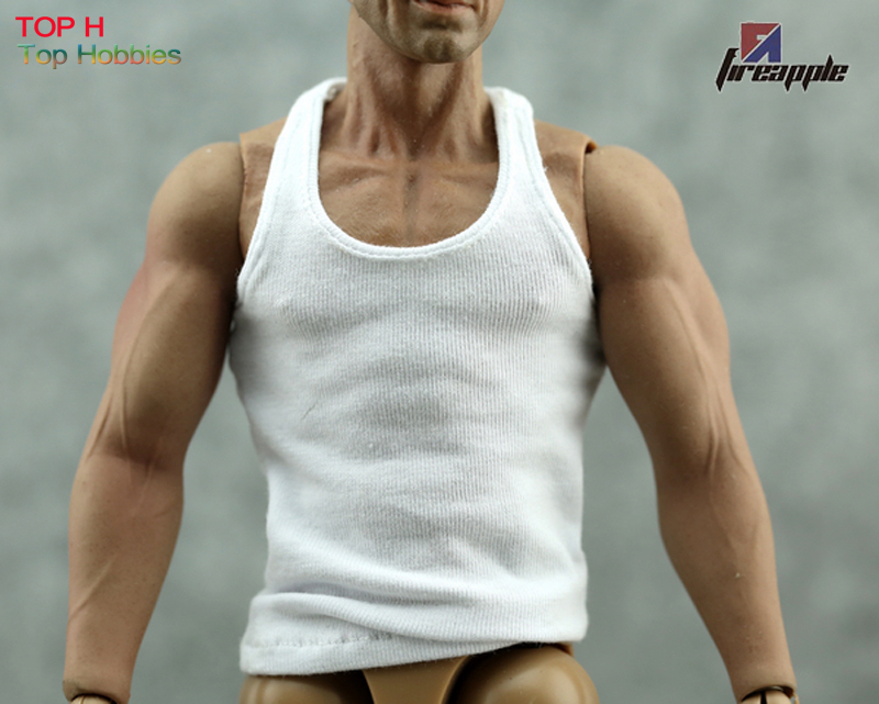 1/6 Scale Male Man Underwear Vest Model Slim White For 12 Muscle HT Toys Figure