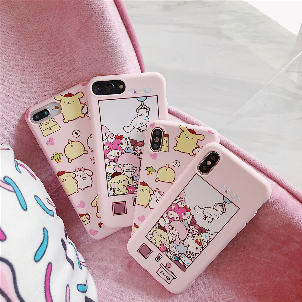 2018 Pudding Dog Silicone Tpu Back Case For Iphone X/xs/xr/xsmax, Pink Protector Cover For Iphone 6g/6plus/7g/8plus Fitted Case For Improving Blood Circulation