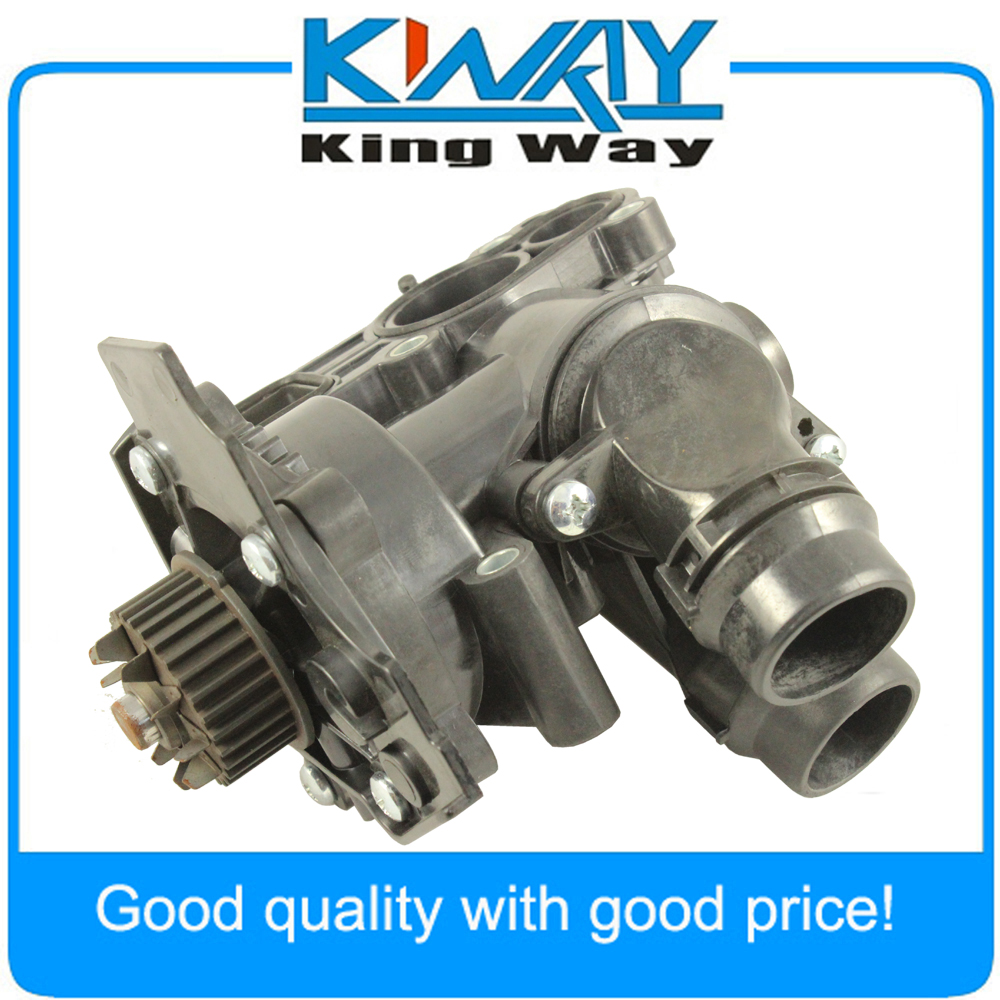 New Water Pump Thermostat Assembly For VW Golf Jetta GTI Passat Tiguan 1.8T 2.0T qty 2 auto for auxiliary cooling water pump fit vw jetta golf gti vw passat cc octavia 1 8 t 2 0 t 12 v engine 1k0 965 561 j
