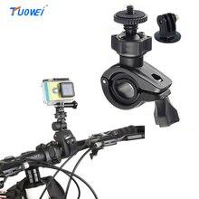 Tuowei Велосипедный Спорт держатель винт Руль управления для мотоциклов клип Гора велосипед клип кронштейн для GoPro Hero 4/3 +/3 для SJCAM sj4/5000 действие Камера