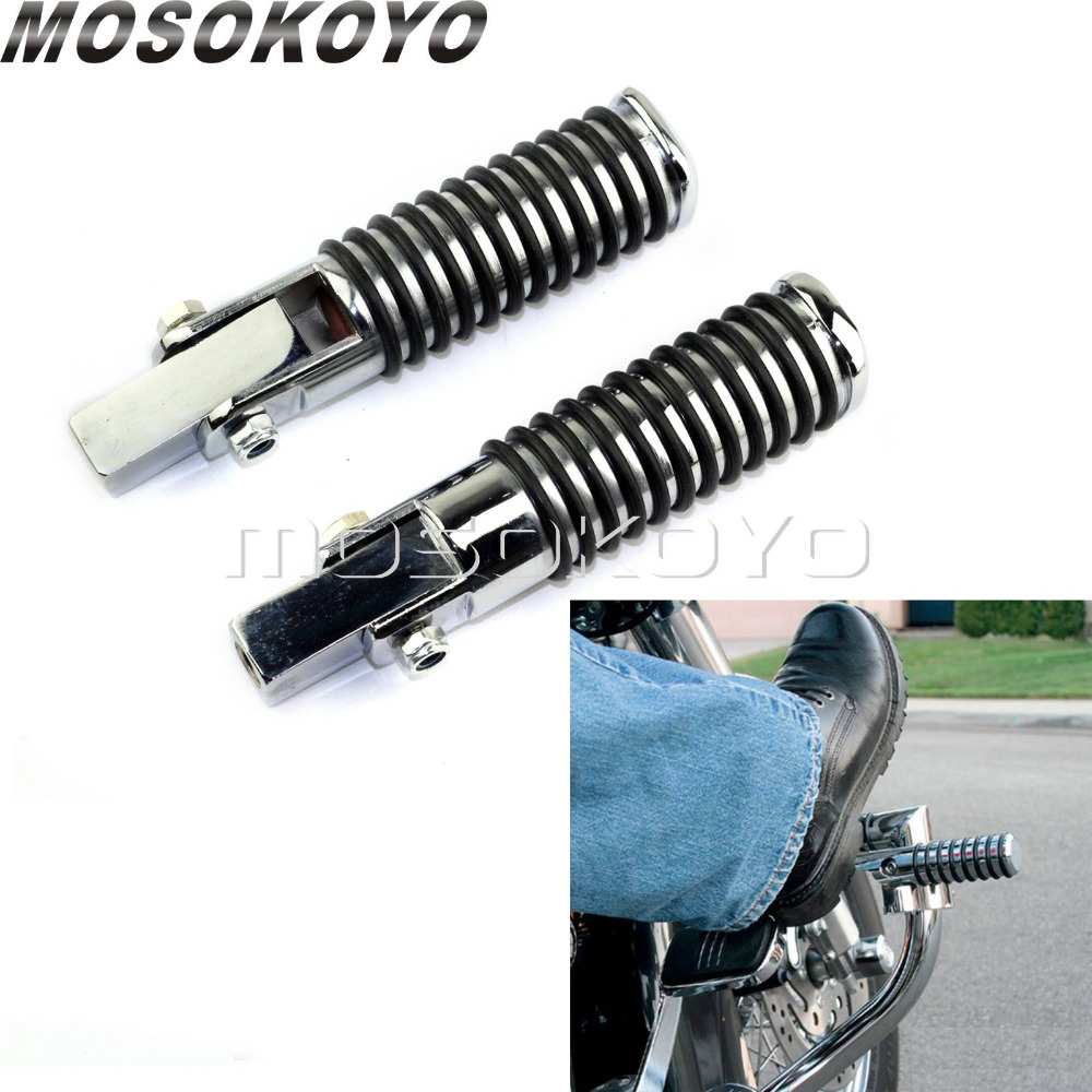 Round Footpeg Motorcycle Highway Footrest Foot Peg for Suzuki Honda VN GL Yamaha Universal