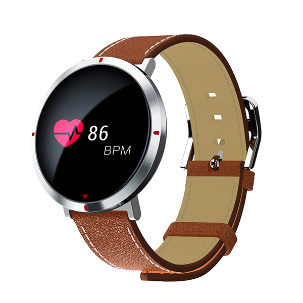 AOSMAN Women S2 Leather Watchbands Round Screen Smart Blood Pressure Wristwatch Bracelet Fitness Sleep Heart Rate Monitor 2018 | Fotoflaco.net