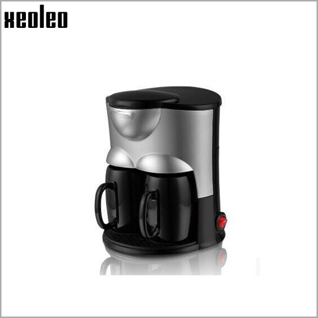 Xeoleo Double Cups Coffee maker Drip Coffee machine Household Hourglass Coffee 300ml with Ceramic Cup Black/Pink 500W 220V-240V sonex lora 1203