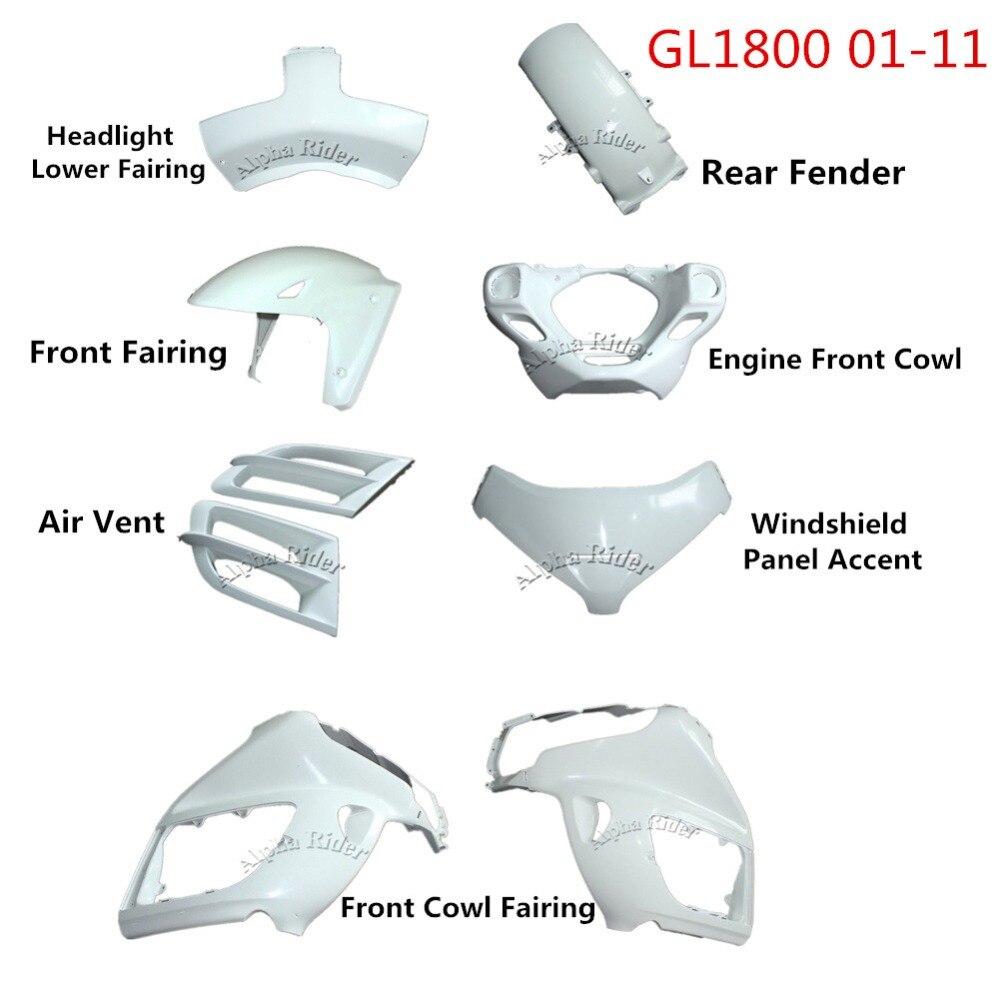 01-11 pour Honda GL1800 pièces de carénage de moto avant garde-boue arrière/carénage de capot/Accent de panneau de pare-brise/capot de moteur