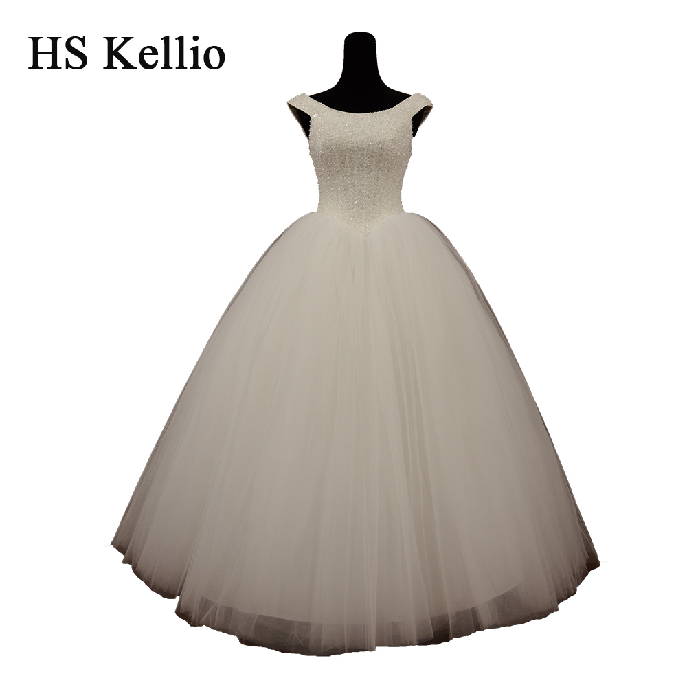 HS Kellio Off Shoulder Chic Beaded Wedding Gown 2019 Vestido De Novias Princess Bridal Dresses Ball Gown
