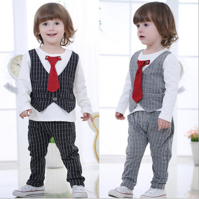 18M~4T New Spring Baby Boy Clothes Gentleman Suit Toddler Boys ...