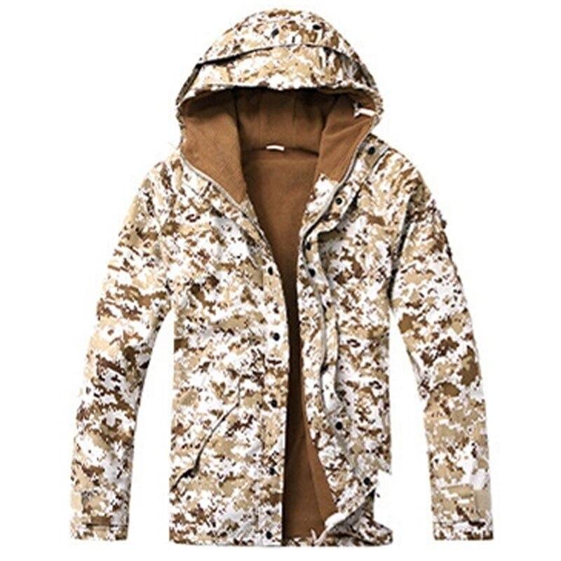 Outdoor Military Tactical Jacket Men's Waterproof fleece Camouflage hunting hiking snowboard Jackets fishing coat