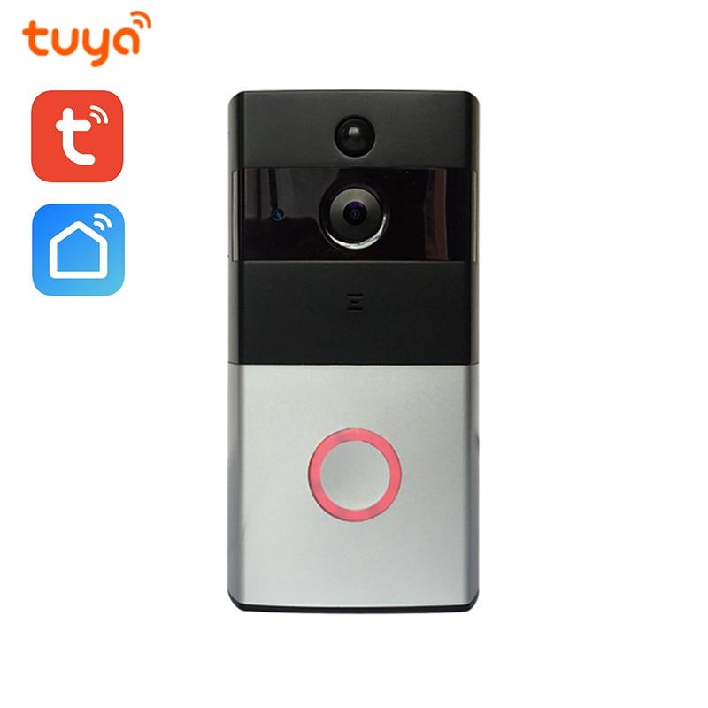 Wi-Fi Enabled Smart Video Doorbell Tuya Smart Life APP Remote Control WiFi  Door Bell Wireless Camera HD 720P