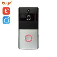 Wi-Fi Enabled Smart Video Doorbell Tuya Smart Life APP Remote Control WiFi Door Bell Wireless Camera HD 720P wi fi video smart doorbell with 2 ways audio and video sensor1280 x 720 field of view180 degree video hd 720p