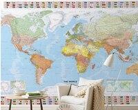 Custom Children S Wallpaper World Map Modern Murals For The Living Room Of Children S Room