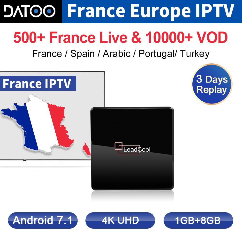 IPTV France Arabic Italy IP TV DATOO Leadcool X Android 7.1 1G+8G S905W Turkey Box