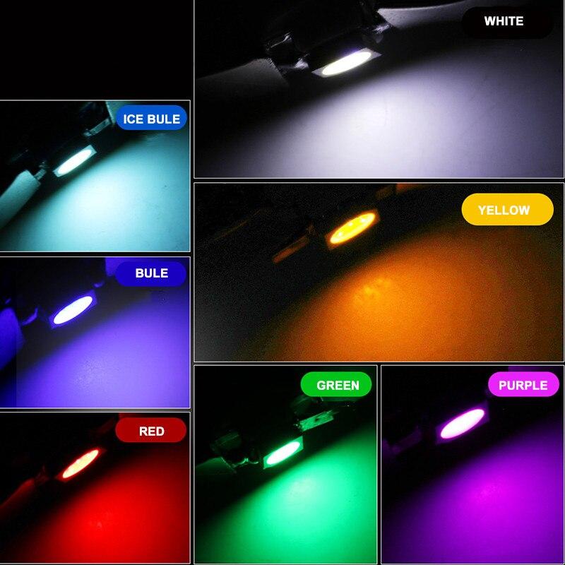 Pink 3x Motorcycle Car COB LED Brake Tail Light Fog Lamp Bulbs Super Bright
