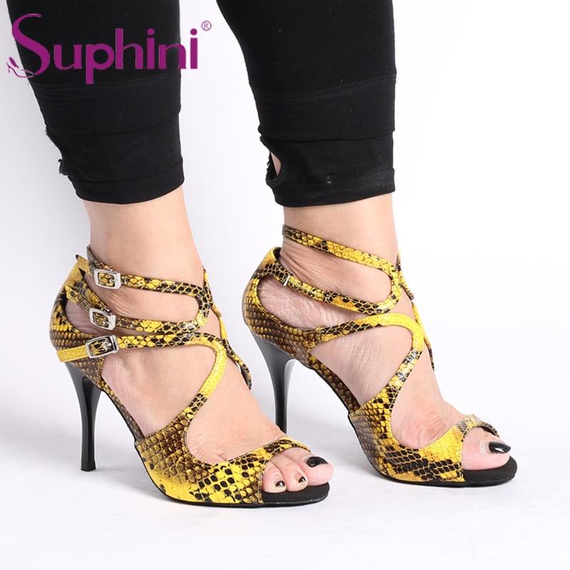 Free Shipping Argentina High Heel Flamenco Suphini Tango Dance Shoes argentina