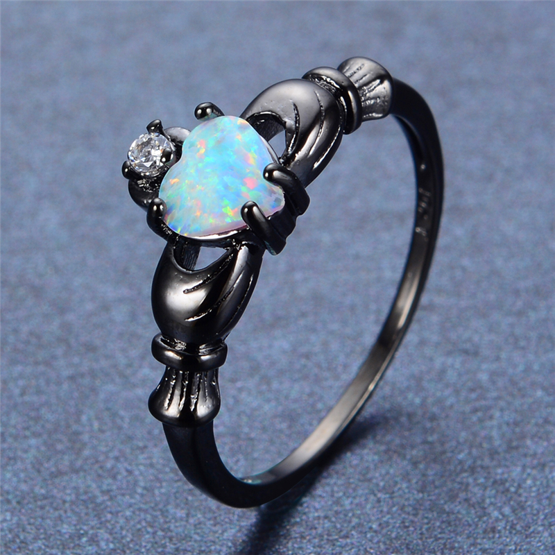 Women's Unique Ring with Opal Jewelry Rings Women Jewelry