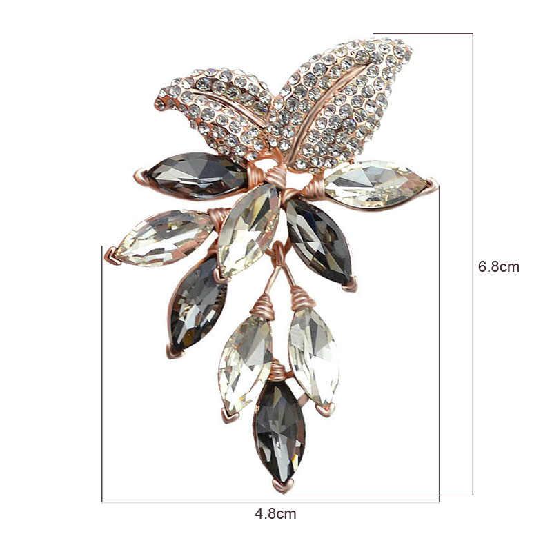 סינדי יאנג גדול קריסטל פרח גדול סיכת ענבים סיכות וסיכות חתונה תכשיטי תכשיטים מלאכותיים וזר פרחים שמלת מעיל אבזרים