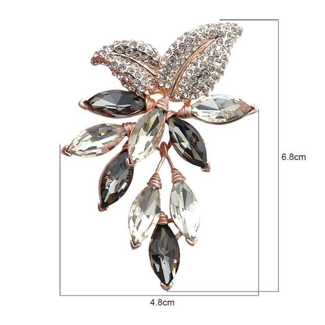 Big Crystal Flower Large Brooch Grape Pins and Brooches Wedding Jewelry Bijouterie Corsage Dress Coat Accessories