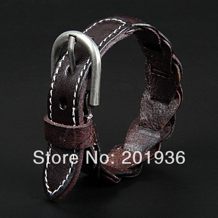 e27daa4f4407 ヾ(^▽^)ノEnvío Gratis nueva moda pulsera de cuero