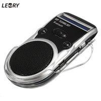 LEORY Neue Ankunft Solarbetriebene Bluetooth Car Kit Digtal Lautsprecher Mit Mikrofon Für Handy Zifferblatt