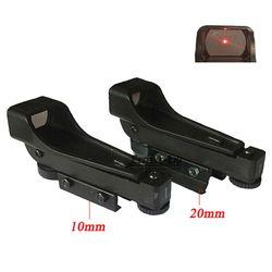 Pistola de ar Suporte de Pista Red Dot Sight 10mm/20 milímetros Tactical Mira Reflex Mira Profissional Caça Acessórios