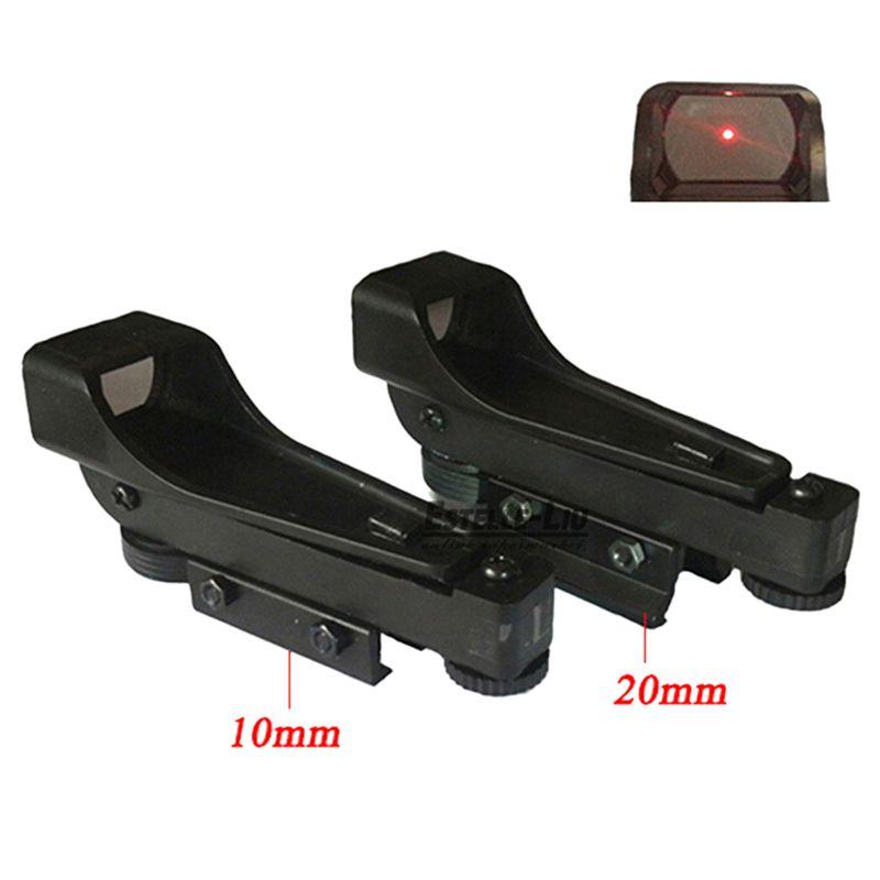 Tactical Reflex sight Red Dot Sight Scope Wide 10 / 20mm View Airgun Weaver Rail Mounts1x20x30 Riflescope Airsoft