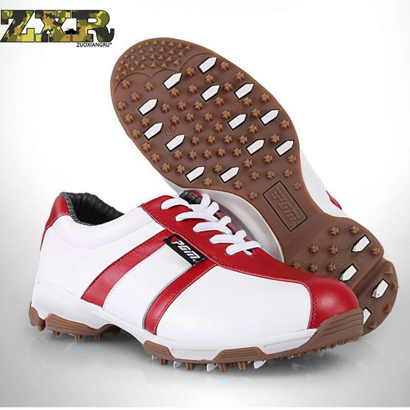Leather Golf Shoes Women Anti-skid Comfortable Waterproof Outdoor Sport Shoes Breathable Patent Design Good Grip First LayerLeather Golf Shoes Women Anti-skid Comfortable Waterproof Outdoor Sport Shoes Breathable Patent Design Good Grip First Layer