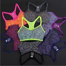 Women Fitness Yoga Sports Bra For Running Gym Padded Wire free Shake proof Underwear Push Up Seamless Fitness Top Bras 2019 стоимость