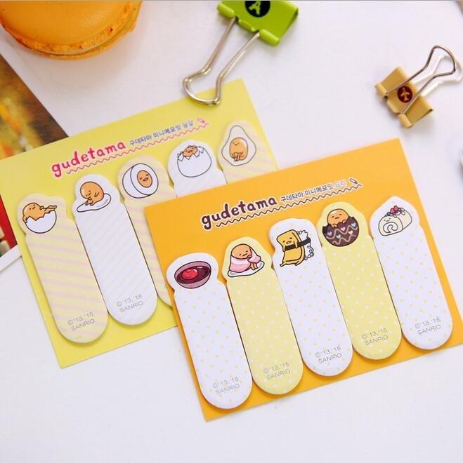 1PC/Lot Mr. Egg series sticky notes Cute egg memo pad Finger bookmark Cartoon Gudetama Notes Post It Stationery Office supplies чехол для планшета it baggage для memo pad 8 me581 черный itasme581 1 itasme581 1