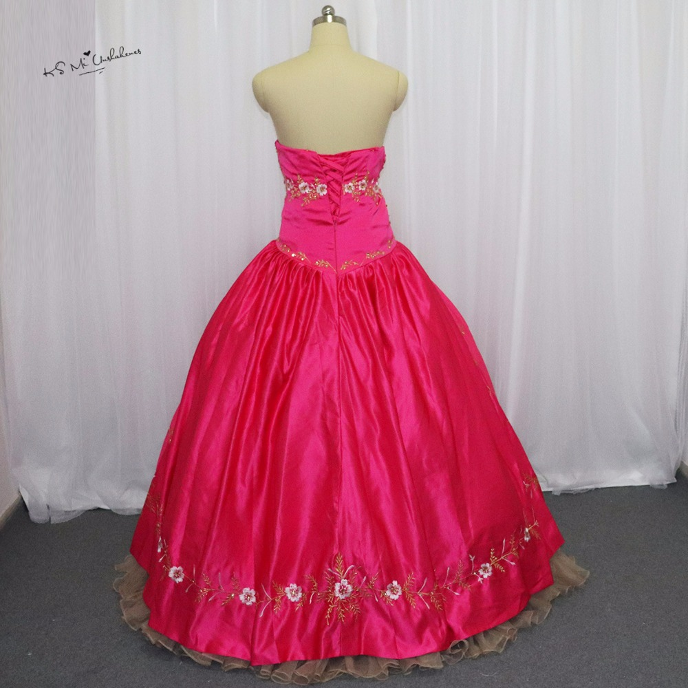 Aliexpress.com : Buy Red Fuchsia Gold Embroidery Debutante Sweet 16 ...