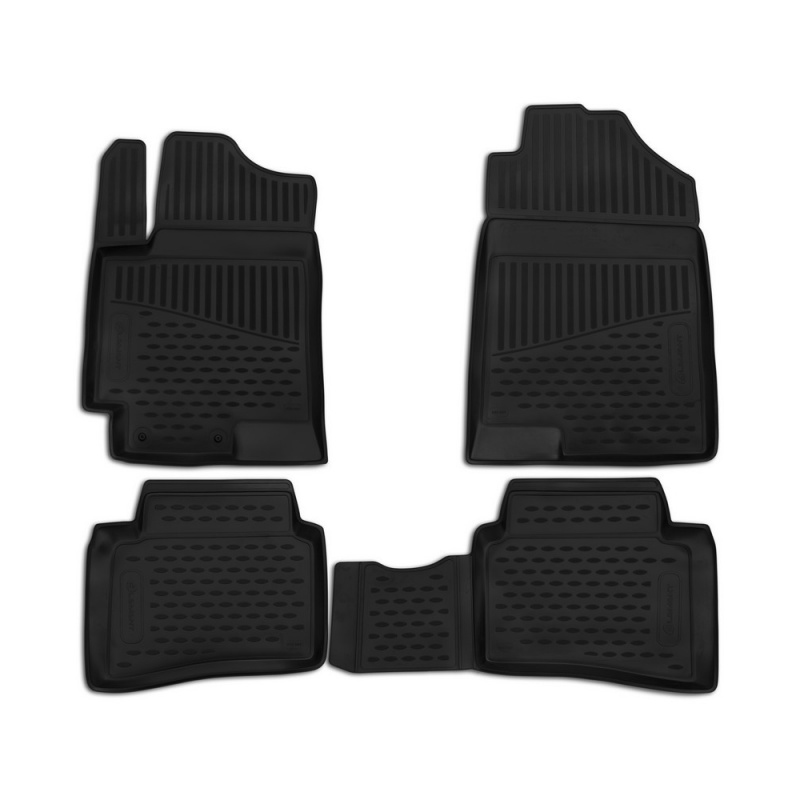 Car Mats 3D salon For MITSUBISHI L200/Triton Manual & automatic, 2016-> double Cab... right steering wheel, 3 PCs (polyurethane) car steering wheel mount cell phone clip holder black red