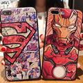 LIHNEL Superman Hero Case for iPhone 5S 5 SE Iron man Cartoon Black Soft TPU Rubber Cover for iPhone 7 7Plus 6/6S 6Plus X Cases