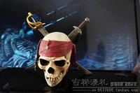 1pcs From Classic Movie Pirates Of The Caribbean Jack Sparrow The Pirate Flag Red Headband Skull