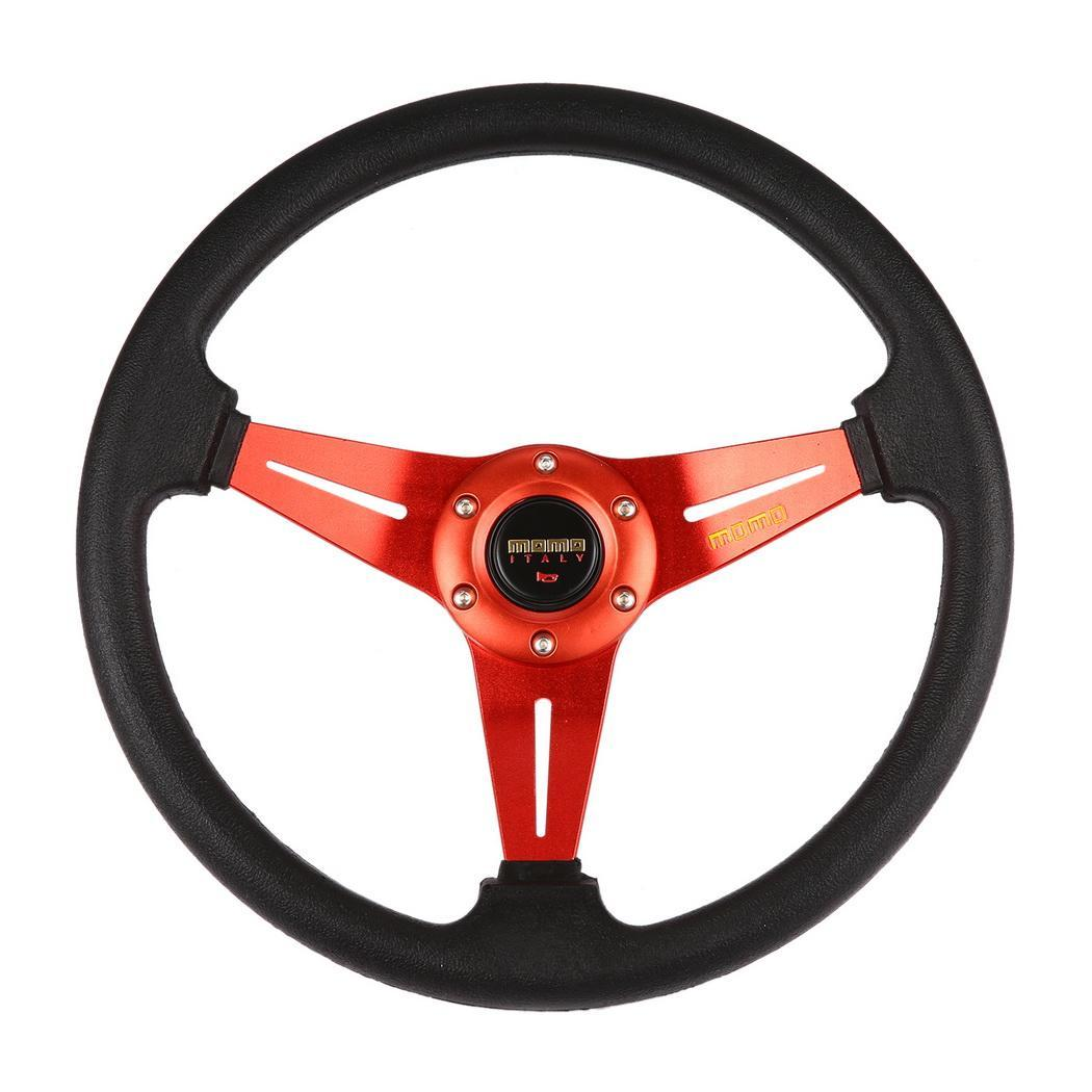 Steering BLUE/RED Blue Red Bolts Racing 350mm steel from for Made PVC inch 13 Drifting durability 6 35cm Wheel Sports 8