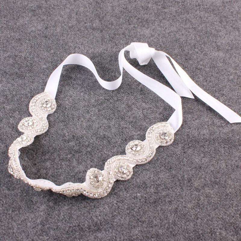 Bridal Hair Accessories Vintage Inspired Rhinestone Headband Crystal Pearls Wedding Headband Women Forehead Hair Jewelry 1 PC 7