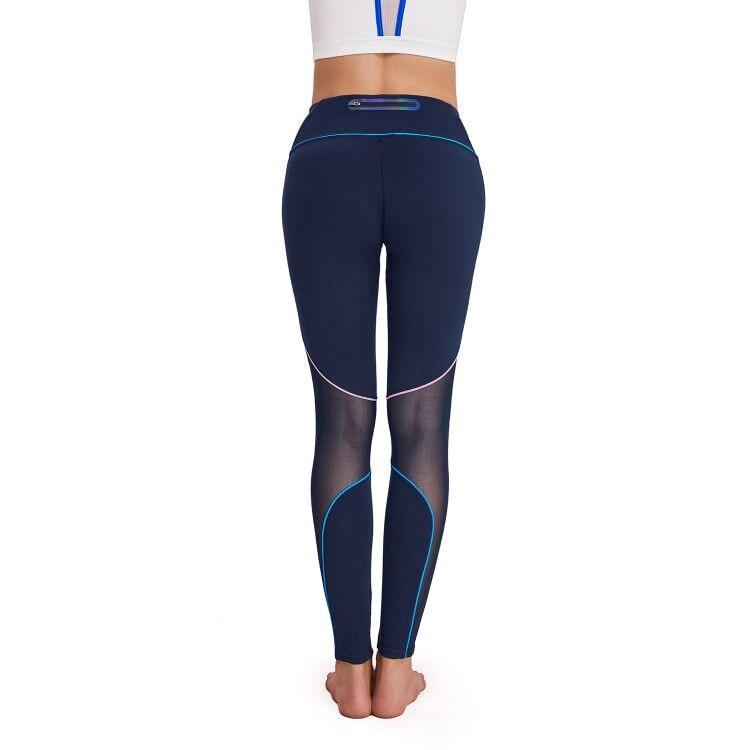 Malla Polainas Corriendo Pantalones Control De Ropa Barriga Mujer Gimnasio Deportivos Compresión Fitness Pantalón Chica Elástico Deportiva Black Las Mujeres Azul wXIxgqCnXP