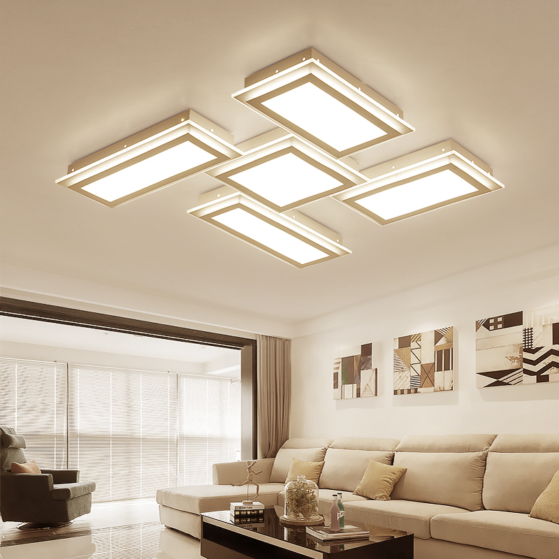 diy home lighting. modern light box led ceiling lights indoor diy creative iron lamp living room bedroom study home lighting fixtures