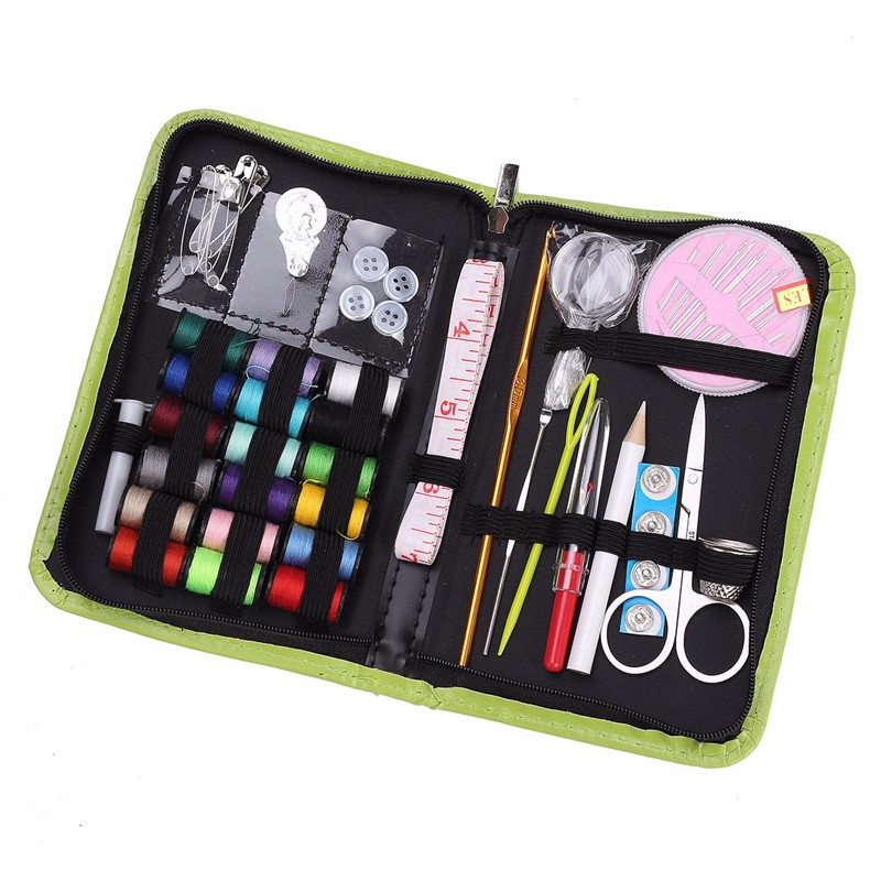Modern Functional Protable Travel Thread Threader Needle Tape Measure Scissor Storage Home Set Sewing Kit for Handmade Tools